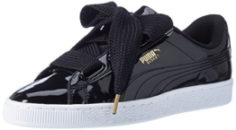 Puma Damen Basket Heart Patent Low-Top Sneaker, Schwarz Black, 38 EU - 1