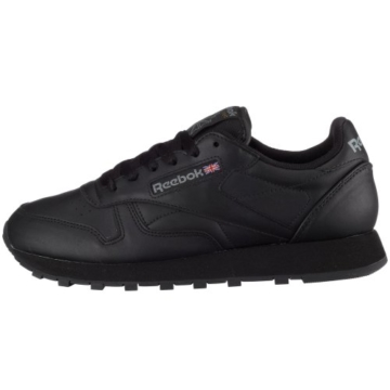 REEBOK Wmns Classic Leather - black,Schwarz,42 - 5