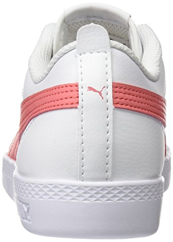 Puma Damen Smash WNS v2 L Sneaker, Weiß White-Shell Pink 05, 42.5 EU (8.5 UK) - 2