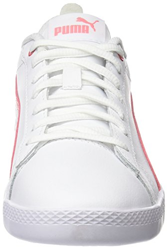 Puma Damen Smash WNS v2 L Sneaker, Weiß White-Shell Pink 05, 42.5 EU (8.5 UK) - 4